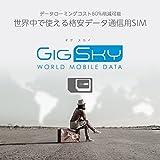 GigSky(ギグスカイ)– 海外用プリペイド 格安データ通信SIM【世界中で高速 4G LTE / 3G通信】無料100MBデータ付