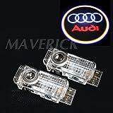 AUDI アウディ カーテシ LED レーザーロゴライト #003T アンダースポット / ドアレーザーライト / カーテシライト 配線不要 / 純正交換タイプ