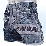 トランクス メンズ ディズニー DISNEY ミッキーマウス MICKEY MOUSE パネル コミック (M, グレー)