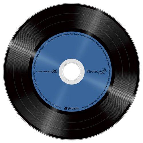 三菱ケミカルメディア Verbatim 音楽用 CD-R MUR80PHS10V1 (Phono-R 5色/1-24倍速/10枚)