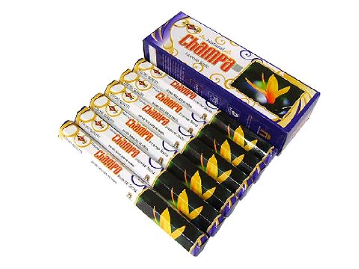 マイコン相対サイズ質素なSHASHI(シャシ) ナチュラルチャンパ香 スティック NATURAL CHAMPA 6箱セット