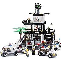 PampasSK ブロック – シティポリス駅モデルビルディングブロックセット 6725 631ピース 本部アクションフィギュア 教育ベビーおもちゃ 子供用 1個