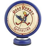 インテリア 置き時計 アンティークガスランプ型 クロック ブルー ロードランナー レトロインテリア アメリカ雑貨 アメリカン雑貨