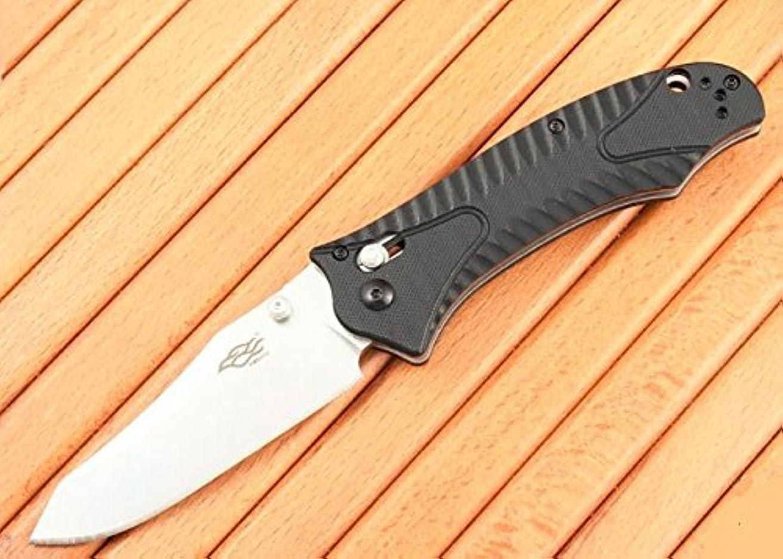 一貫性のない小道すでに(滄竜) 合金 G10グラスファイバー 滑り止 折りたたみナイフ 直刃, プレミアム品質 by GANZO Firebird
