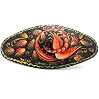 Russian Hair Clip Hand Painted Barrette Palekh style Firebird by BuyRussianGifts [並行輸入品]