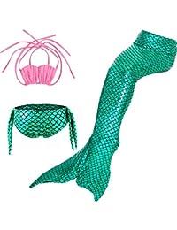 cosplay衣装店 人魚姫 3点セット 水着 マーメイド 女の子 コスチューム 子供水着 セパレート キッズ スイミングウェア