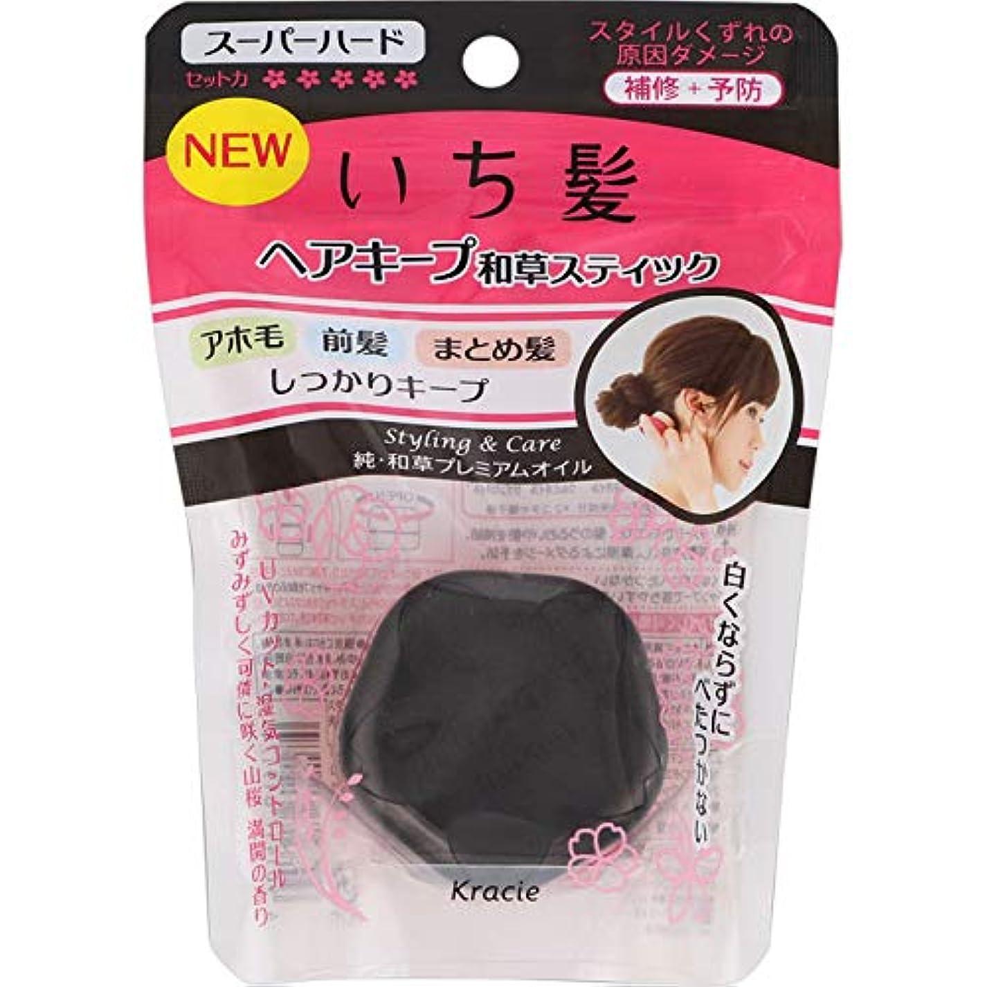 抑止する熟練したデイジーいち髪 ヘアキープ和草スティック(スーパーハード) × 10個セット