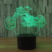 オートバイ3d錯覚ランプナイトライトledキッズ気分ライトリモコンベッドサイドテーブルランプタッチスイッチ色変更誕生日プレゼント