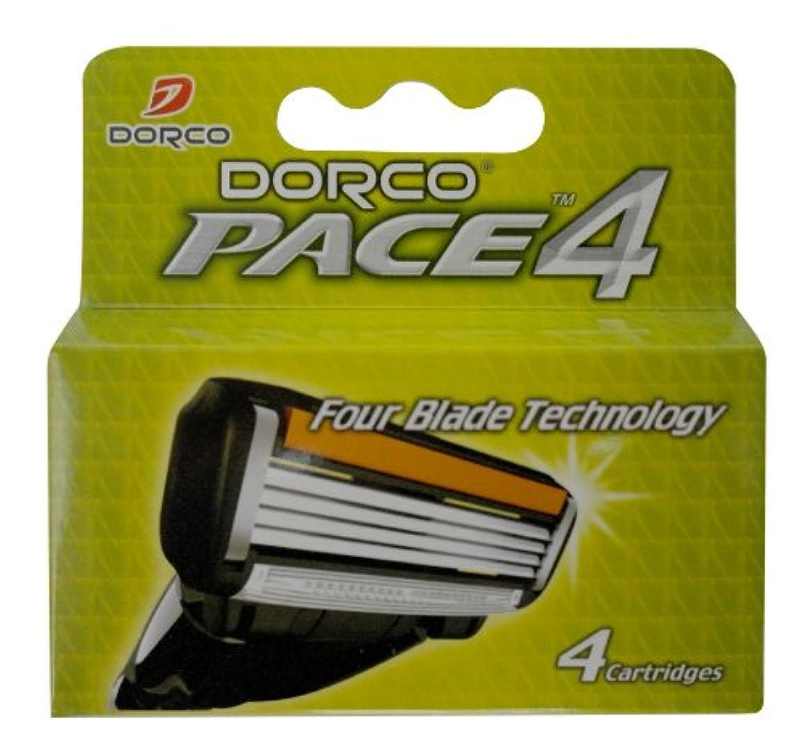 マイクロプロセッサ田舎モトリーDORCO ドルコ PACE4 男性用替刃式 カミソリ4枚刃 替え刃