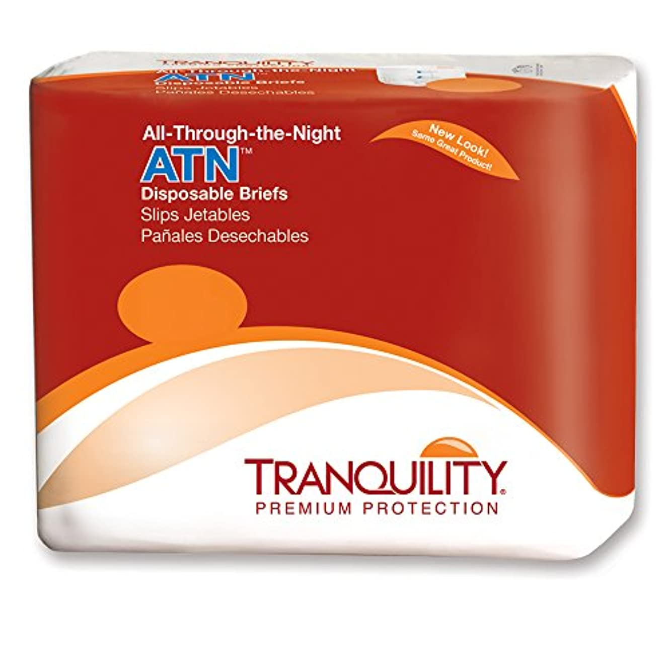 宿題をするブラケット楽なTranquility 2187 All-Through-The-Night Disposable Briefs-XL-72/case by PRINCIPLE BUSINESS ENT