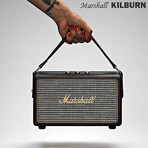 【国内正規保証付き】Marshall KILBURN マーシャル「キルバーン」:ブラック Bluetooth搭載のポータブルスピーカー 【ギターアンプ、ヘッドフォン、iPhone、スマートフォン】
