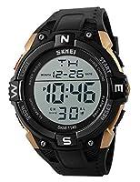 メンズ腕時計LEDデジタル腕時計多機能メンズMilitaryアウトドアスポーツ50M防水Watches ゴールド