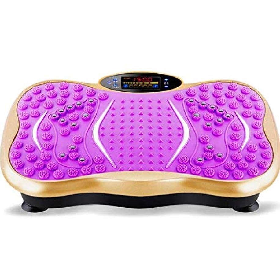 バーチャルマットレス狂気減量マシン、ジム/ホームフィットネスプロフェッショナルバイブレーショントレーナー、Bluetooth音楽スピーカーエクササイズフィットネスマシントレーナー体の振動による過剰な脂肪の削減