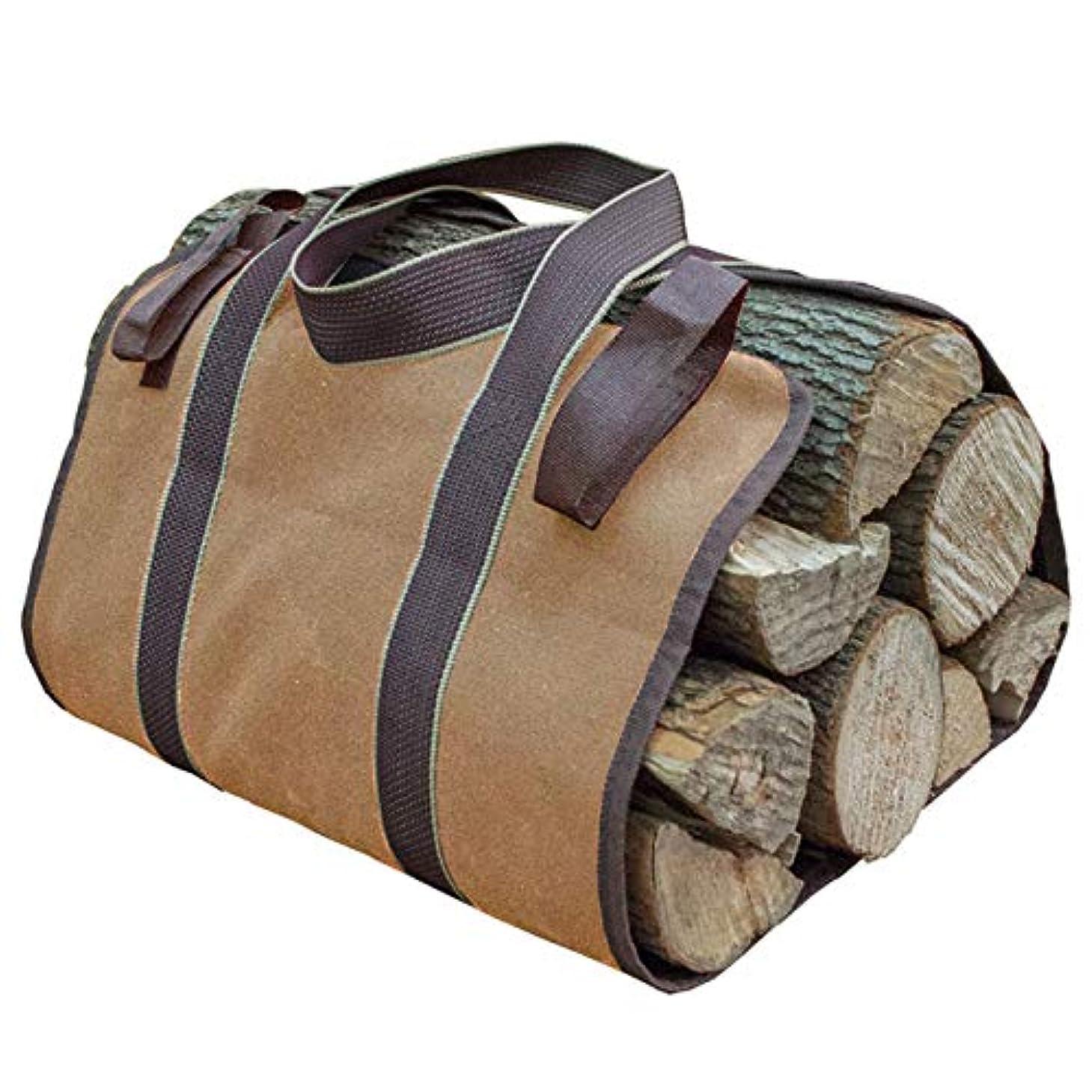 露骨な信じるとにかくGoodsLand 【 折りたたみ コンパクト 】 薪 トートバッグ ログ キャリー ハンド バッグ 大容量 ケース まき 持ち運び用