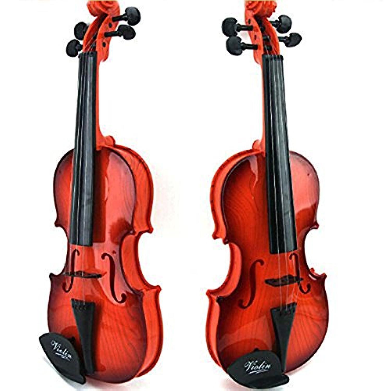 ELEAR™ ABS 子供 音楽演奏楽器 小型 バイオリン 電子 バイオリンおもちゃキッズギフトスターターキットブラウン