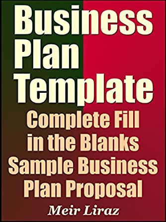 amazon business plan template complete fill in the blanks sample