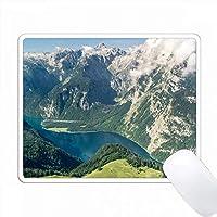ドイツ - Koenigsee湖とMt. Watzmann。 PC Mouse Pad パソコン マウスパッド