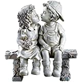 Lily's Home Kissing Couple Garden Sculpture, First Kiss, Puppy Love, Figurine