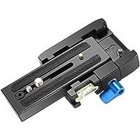 Neewer プロアルミニウム合金製のクイックシュープレートアダプター 1/4インチと3/8インチのネジを搭載 DSLRカメラ、三脚、一脚に適用 Manfrotto 501HDV 503HDV 701HDV 577/519/561/Q5等に対応(青+黒)
