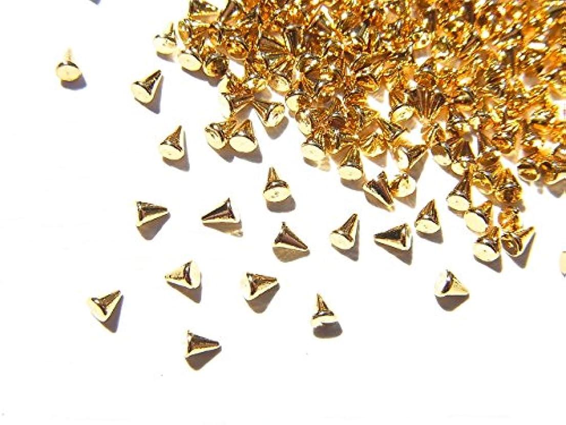 熟した有用配当【jewel】ゴールド メタルパーツ リベット (トゲトゲ) Sサイズ 10個入り 1.8mm×1.3mm 手芸 材料 レジン ネイルアート パーツ 素材