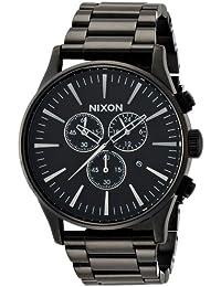 [ニクソン]NIXON SENTRY CHRONO: ALL BLACK NA386001-00 メンズ 【正規輸入品】