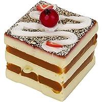 cinhent絶妙なミニフルーツケーキSquishy Slow Risingクリーム香りつきDecompressionおいしいパンToysddisplay Props製品on Shop (ランダムカラー&スタイル