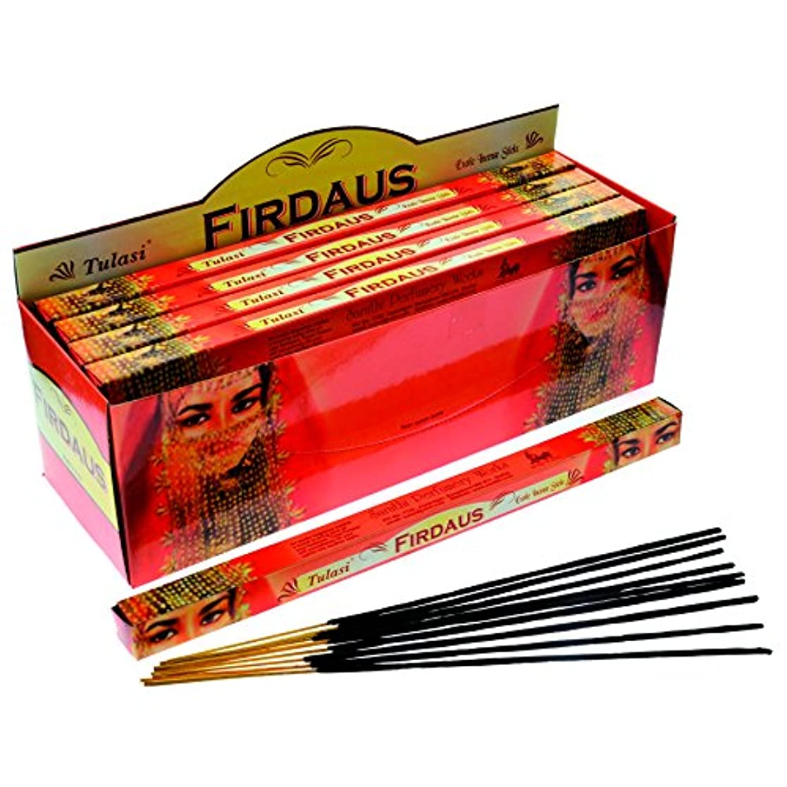 浜辺突然値Tulasi Incense Sticks ( Firdaus ) – 8スティックSquare Pack