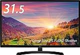 LG ディスプレイ モニター 31.5インチ/IPS非光沢/フルHD/HDMI ブラック/ブルーライト低減機能 32MP58HQ-P