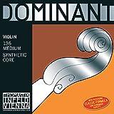 Dominant ドミナント 4/4バイオリン弦セット(E線129MSスチール、ループエンド)