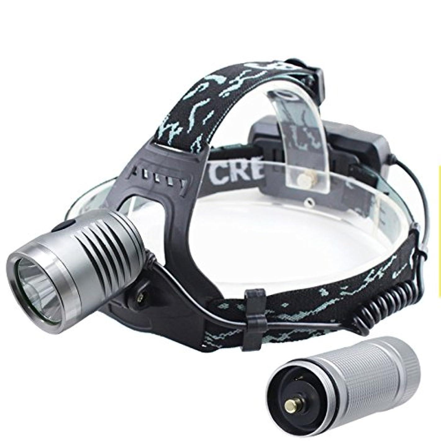運動天引き金スーパーブライト LEDヘッドランプ照明3モード防水ヘッドランプキャンプ狩猟ヘッドライトトーチで18650バッテリー用ヘッドランプ屋外ハイキング