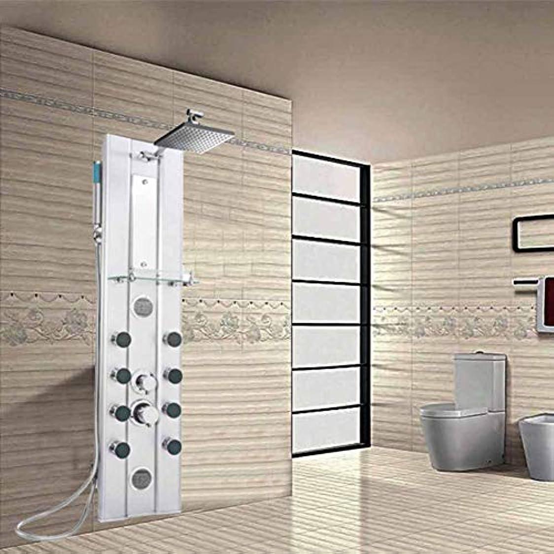 流星着替える鷲シャワーシステム、シャワーパネルセット壁掛けアルミシャワースクリーン新しいシャワーセット多機能シャワー蛇口ボディレインフォールシャワーハンドシャワーとボディジェット