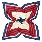 K-Eleven レディース スカーフ シルク100% おしゃれ オフィス フォーマル 制服用 正方形60 x 60cm SK072(3#)
