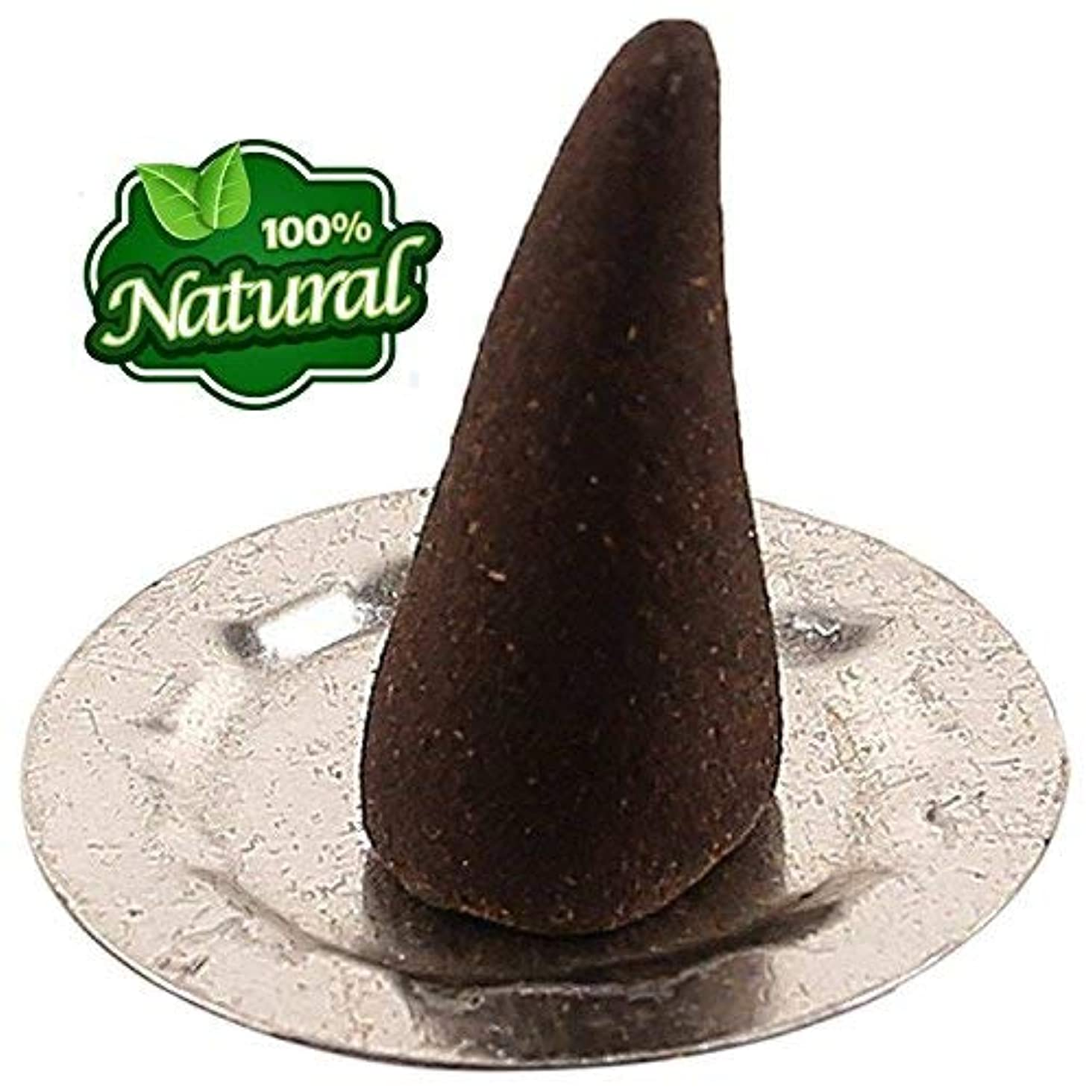 伝える独特の患者Bless-Frankincense-and-Myrrh 100%-natural-incense-cone Handmade-hand-dipped-Fragrant-Cone-with-burning-stand [...