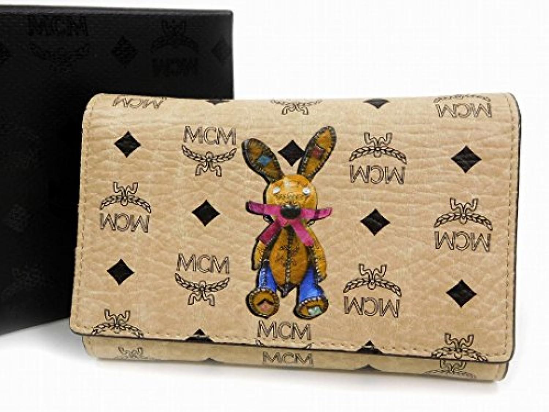 [エムシーエム] MCM 二つ折り財布 ラビット PVC×レザー X16677 中古