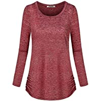 Hibelle Women's Long Sleeve Activewear Yoga Running Workout T-Shirt Tops