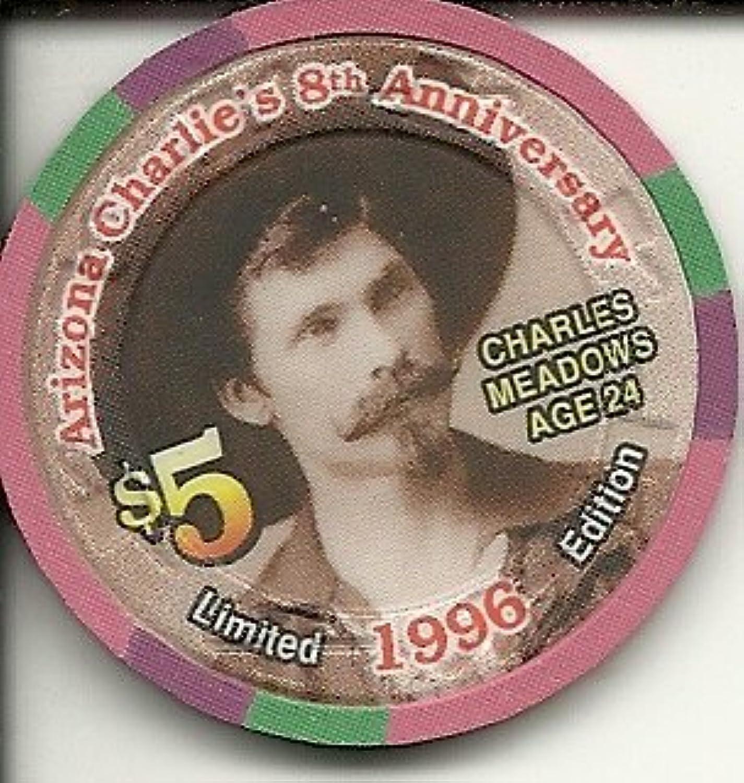 $ 5 Arizona Charlieのカジノラスベガスカジノチップ1996 Charles Meadows