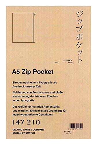デルフィーノ システム手帳 ZIP POCKETA5サイズ用 COT-44210