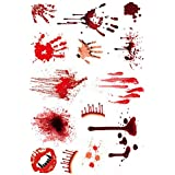 防水ホラー恐ろしい創傷血液の傷跡 傷跡タトゥーステッカーハロウィーンの装飾