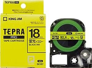 キングジム テープカートリッジ テプラPRO SK18Y  蛍光イエローラベル