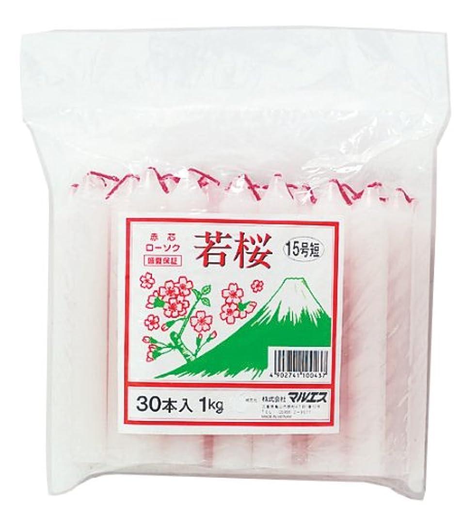 克服する合法規定マルエス 若桜 赤芯15号 短寸 1kg