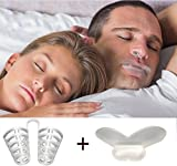 いびき防止イビキストッパ ノーズピン  安眠グッズ 快眠 いびきお得 2in 1pack