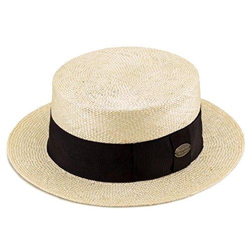 (田中帽子店) Margot/h(マルゴ / オム) ケンマ草 カンカン帽(紳士用) ( 帽子 ケンマ 草 メンズ 60cm 春 夏 リボン 和風 小物 ギフト 誕生日 プレゼント 男性 日本製 国産 父の日 )UK-H061 (ナチュラル)