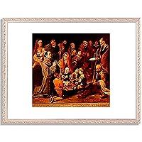 ムリーリョ「Die Armenspeisung des hl.Diego von Alcala. 」 インテリア アート 絵画 プリント 額装作品 フレーム:装飾(銀) サイズ:S (221mm X 272mm)
