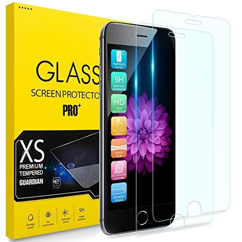 2枚セット iPhone8 ガラスフイルム iPhone7 強化ガラス iPhone6 保護フィルム iPhone 6S液晶保護フィルム [日本製素材旭硝子製] 業界最高硬度9H /3D Touch/耐衝撃/極薄型/高透過率/指紋防止/自動吸着/気泡ゼロ アイフォン7 アイフォン8 強化ガラス液晶保護フィルム 全面保護ー 4.7インチ対応