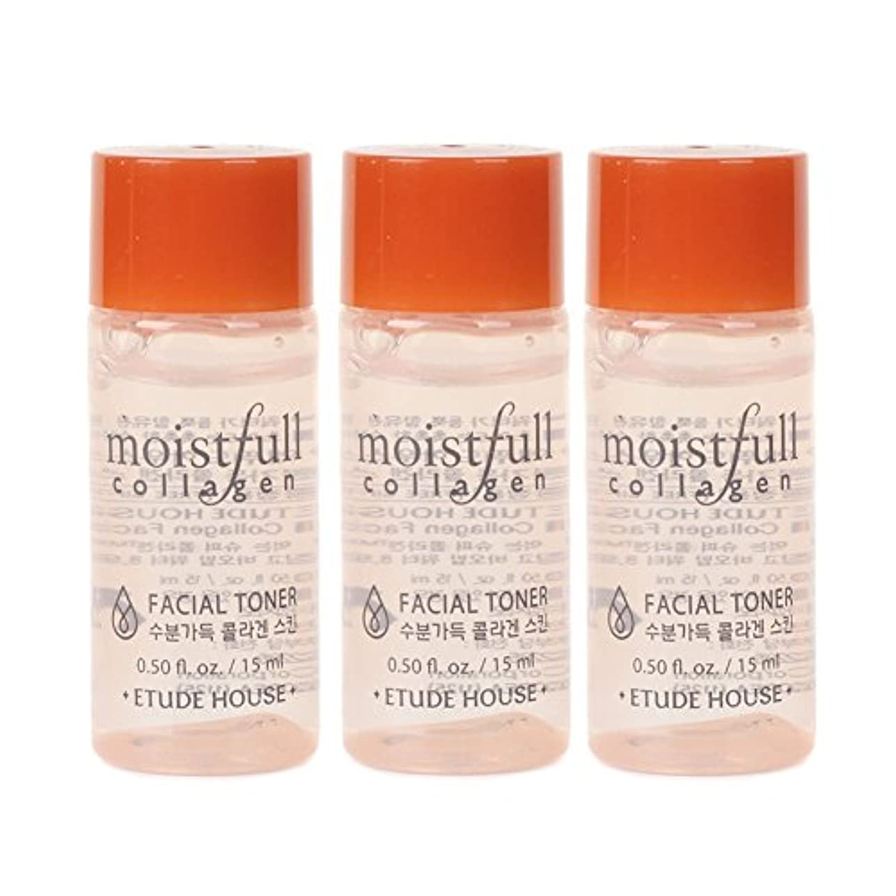 楽観的シットコムジャムEtude House Moistfull Collagen Facial Toner 15ml x 3