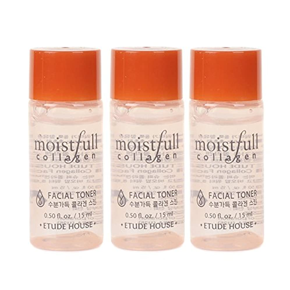 成長する拍手休日Etude House Moistfull Collagen Facial Toner 15ml x 3