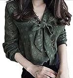 (トーアソーア) toasoa リボン ボウタイ ブラウス レディース シャツ シフォン 大人 可愛い エレガント オフィス カジュアル ファッション L