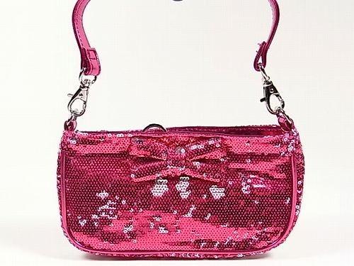 スパンコールショルダーバッグ(ピンク) バーニーズ・ニューヨーク