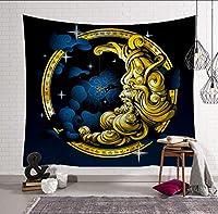 Wangxiaojie 日月タペストリー家の装飾壁掛け壁タペストリー毛布農家の装飾ゴシック家の装飾@ 4_150X100Cm