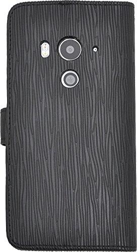 PLATA HTC J butterfly HTV31 ケース 手帳型 ストレート レザー スタンド ケース ポーチ 手帳 カバー 【 ブラック 黒 くろ black 】 AHTV31-50ABK